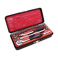 "SP Tools 23 Piece 1/4"" Drive Metric & SAE Imperial Socket Ratchet Set - 12 Point"