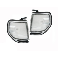 Toyota 80 Series Landcruiser Chrome Corner Park Lights LH RH 91-98 Pair ADR NEW