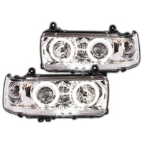 Toyota 80 Series 90-98 Landcruiser Angel Eye Projector Headlights Altezza Halo