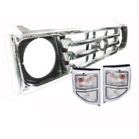 78 79 Series Landcruiser Chrome Grille Clear Indicators Toyota 99-07 Quality Ute