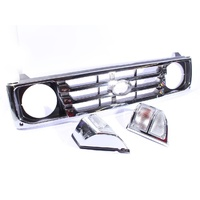 Toyota Landcruiser 78 79 Series 99-07 New Chrome Grille & Clear Corner Lights