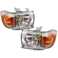 Toyota Landcruiser 76 78 79 70 Series 07-14 Headlights Pair Ute/Wagon/Troopy L+R