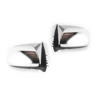 Toyota Hilux 05-13 Ute 2WD & 4WD Chrome Manual LH+RH Set Door Wing Mirrors