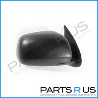 Toyota Hilux 05-13 Ute 2WD & 4WD Black Manual RHS Right Door Wing Mirror
