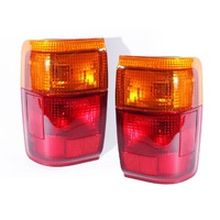 Toyota Hilux 4Runner & Surf Ser1 89 90 91 Red & Amber LH+RH Set Tail Light Lamps