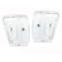 Toyota Hilux 88 89 90 91 4WD Chrome Clear Corner Lights SR5 Left & Right Pair
