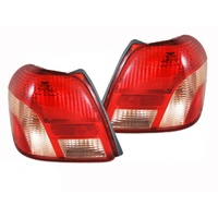 Toyota Echo Sedan 99 00 01 02 Tail Lights Pair LH+RH