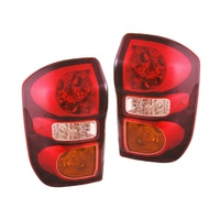 Toyota Rav4 03 04 05 3&4 Door Hatch/Wagon Red LH+RH Pair Of Tail Light Lamps
