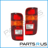 Toyota Hiace Hi-Ace Van 89-05 Red Amber & Clear LH+RH Pair Of Tail Light Lamps
