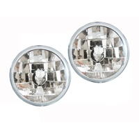 "7"" Inch Round Headlights Crystal Semi-Sealed Universal Lamps Many Makes & Models"