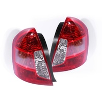 Hyundai Accent 05-09 4 Door Sedan Genuine LH+RH Set Red & Clear Tail Light Lamps