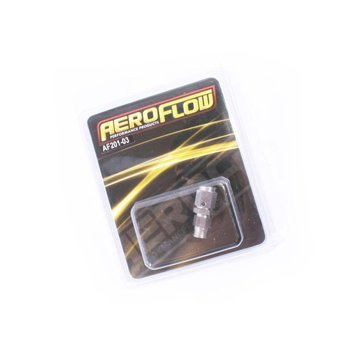 Aeroflow 200 Series -3AN Straight Teflon Stainless Steel Brake Hose End AF201-03