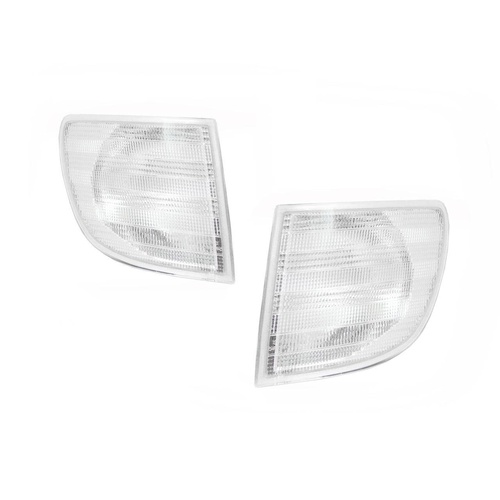 Mercedes Benz Vito Van 98-04 Clear Front LH+RH Set Corner Ind Light Lamps Depo