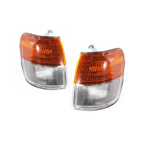 Mitsubishi Pajero 91-00 NH NJ NK & NL LH+RH Corner Indicator Light Lamps Depo