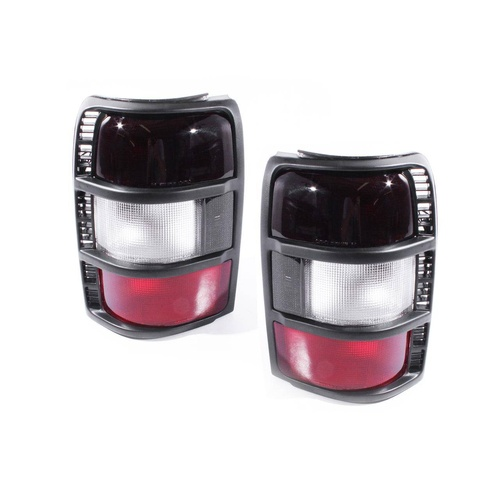 Mitsubishi Pajero 91-97 NH NJ NK Tinted Red & Clear LH+RH Pair Tail Light Lamps