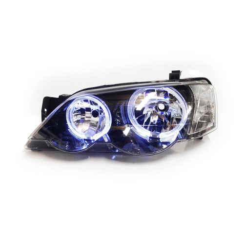 Ford Falcon 02-08 BA BF XR6 XR8 FPV & Turbo Black Angel Eye LHS Left Headlight