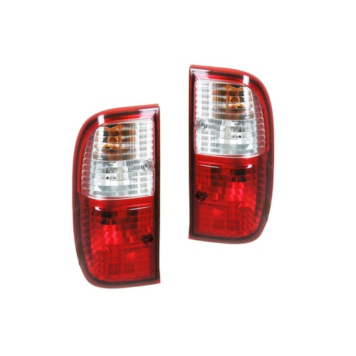 Ford Courier 04-06 PH Style Side Ute Red & Clear LH+RH Set Tail Light Lamps Depo