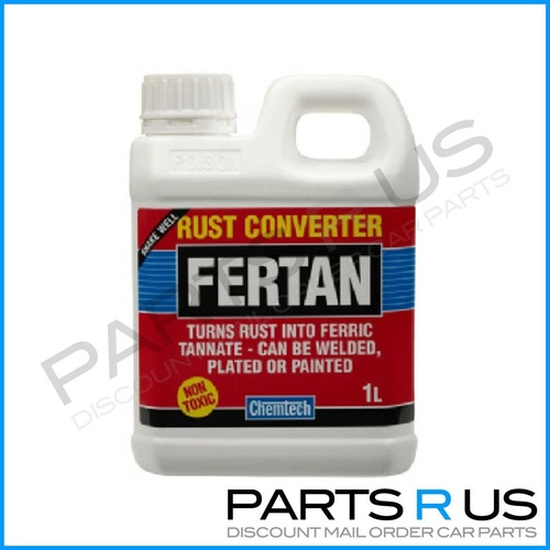 Fertan Rust Converter - Turns Rust Into Ferric Tannate To Be Welded & Painted 1L