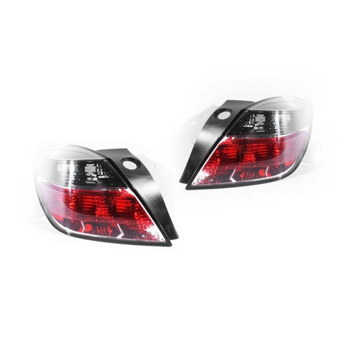 Holden Astra AH 04-10 3Door Hatch Red Clear/Tinted LH+RH Set Tail Lights Depo