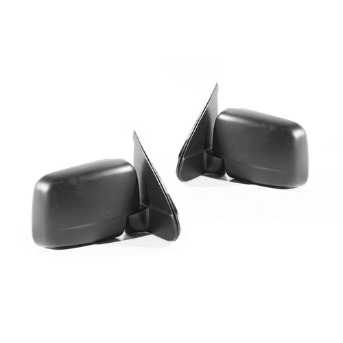 Ford Courier PE PG & PH Ute 99-06 Black Manual LH+RH Set Sail Mount Door Mirrors