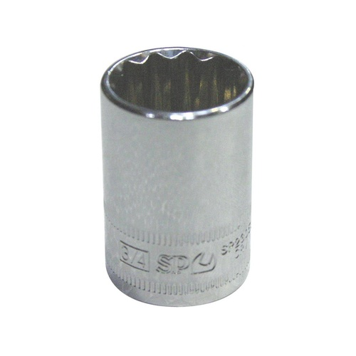"SP Tools 1/2"" Dr 9/16"" x 12 Point SAE Socket"