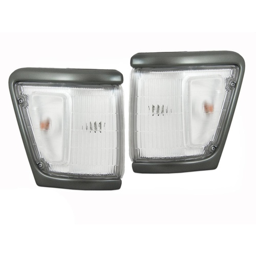 Toyota Hilux 91-97 4WD Grey & Clear Corner Lights Pair
