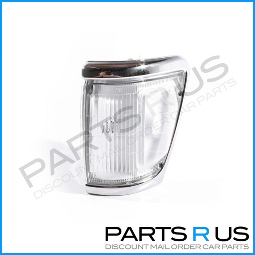 Toyota Hilux 91-97 4WD Ute Chrome Edge & Clear Lens LHS Left Corner Light ADR