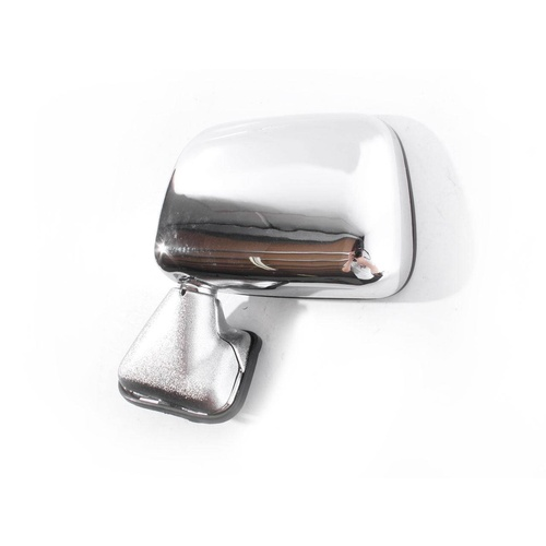 Toyota Hilux 88-97 2WD & 4WD Chrome LHS Left Skin Mount Door Wing Mirror