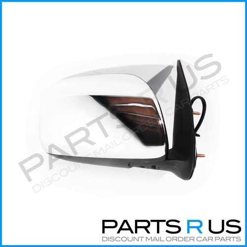 Toyota Hilux Door Mirror 05-11 Ute Chrome Electric RHS Right Wing 06 07 08 09 10