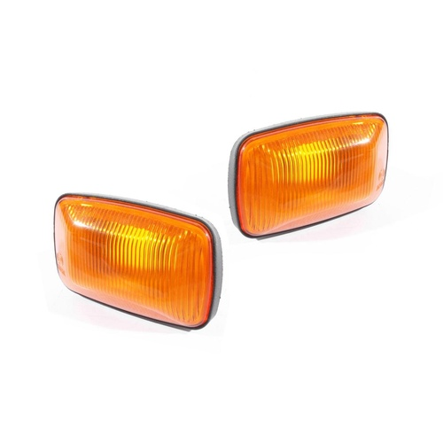 Toyota 100 Series Landcruiser 98-07 2x Pair Amber Guard Flasher Ind Light Lamps