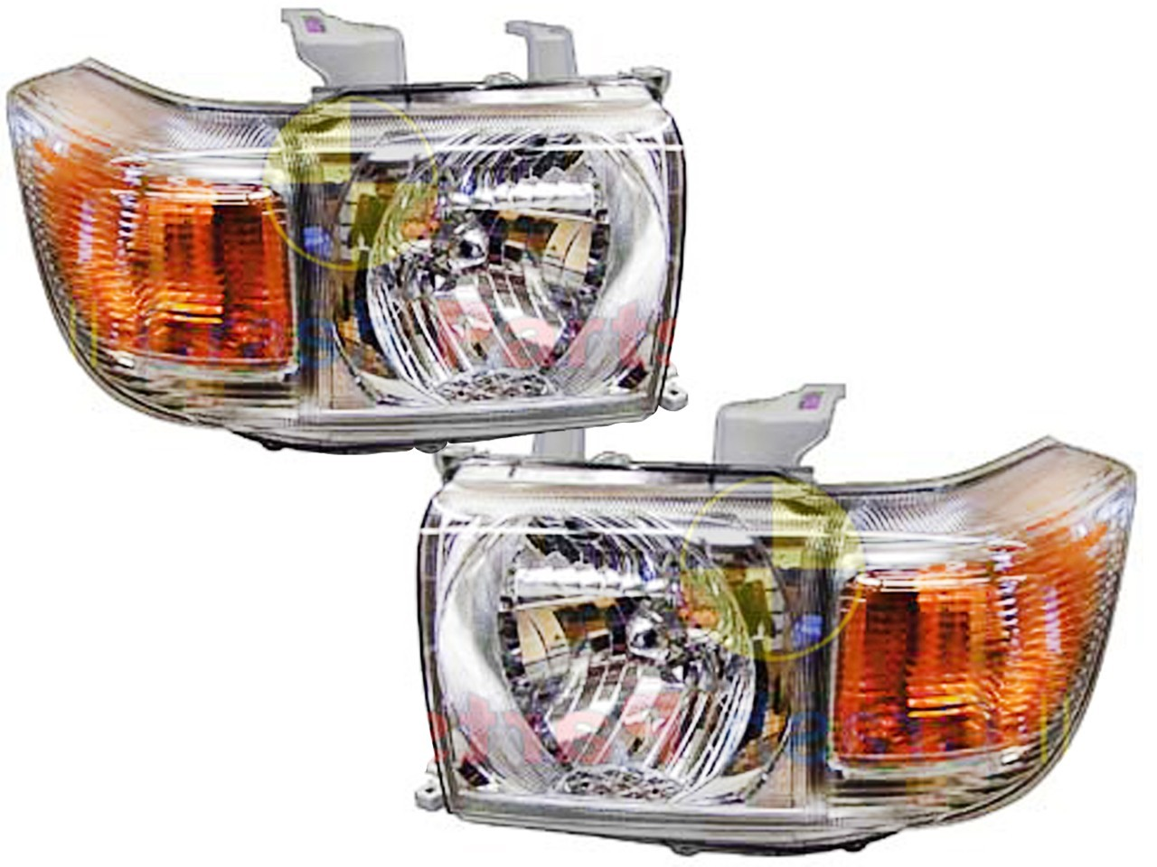 Headlights 07 14 Toyota Landcruiser 76 78 79 70 Series Pair Ute Wagon Troopy L R Aftermarket