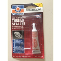 Permatex High Temperature Thread Sealant 50ml -RED Fastner Sealer for Leaks/Vibration