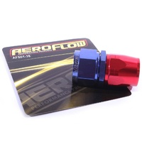 Blue Aeroflow 550 Series -16AN Straight Cutter Style Full Flow Braided Hose End