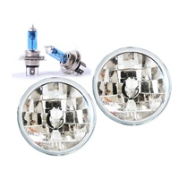 "Headlights Nissan Patrol / Maverick MQ GQ 7"" Replacement Kit + H4 Bulbs/ Globes"