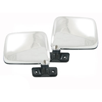 Door Mirrors 87-97 Nissan Patrol GQ Chrome Skin Mount