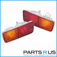 Rear Bumper Bar Tail Lights Pair Nissan Patrol GQ & GU 91 - 12