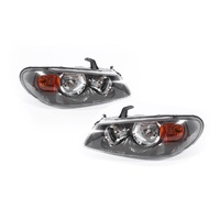 Set Headlight Lamps TYC Nissan Pulsar N16 Ser2 02-03 5Door Hatchback Grey LH+RH
