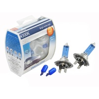 Headlight Bulbs + Parkers Upgrade Globes Set Genuine Philips Crystal Vision H7