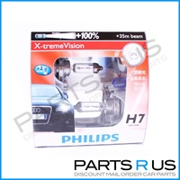 Genuine Philips X-Treme Vision +100% H7 Pair of Headlight Bulbs BRIGHTER GLOBES!