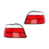 BMW E39 5 Series & M5 96-03 Standard Red & Clear LH+RH Set Tail Light Lamps A/M