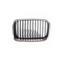 Grill 91-96 BMW E36 3 Series LHS Left Standard Black & Chrome Front Grille