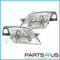 New RHS Right LHS Left Pair Headlights Lamps Ford Laser 98 99 00 01 02 KN & KQ
