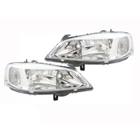 Head Lights Holden TS Astra 98 99 00 01 02 03 04 Chrome Pair RHS LHS