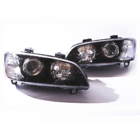 Headlights Holden VE Commodore SSV/Calais HSV Black Projector Pair + SS SV6