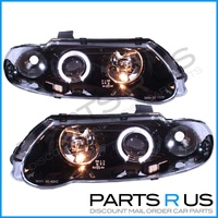 Altezza ANGEL EYE Halo Black Headlights Set Holden VX Commodore SS & VU Ute