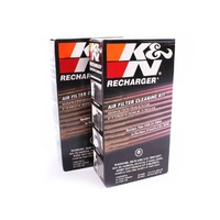 2x K&N Air Filter Recharge Kit KN99-5050 Twin Pack Squeeze Oil & Cleaner