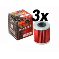 3x Beta Rev 250 Trials Bike 07-08 K&N Performance Oil Filter 4T Stroke