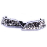Altezza Headlights Ford Falcon Fairmont BA BF 10/02 - 8/06 LED CHROME DRL Projector
