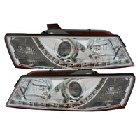 Headlights Holden VZ Commodore Berlina Calais HSV LED DRL Chrome 04 05 06 07 Ute