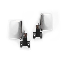 Manual Chrome Door Mirrors 60 Series 87-90 Toyota Landcruiser Wagon LH+RH Set